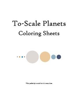 Planets to Scale Coloring Sheets