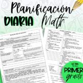 Planificación de primer grado - Matemáticas