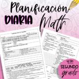 Planificación de segundo grado - Matemática