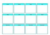 Planificador anual - 12 mesos -