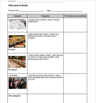 Planificar una fiesta (Party Planning)