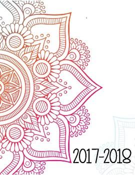 Planificateur 2017-2018 Noir et Blanc