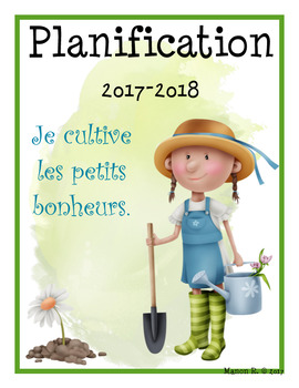 Planificateur 2017-2018 (Teacher Planner) 3 AM-3 PM