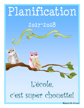 Planificateur 2017-2018 (Teacher Planner) 3 AM-3 PM