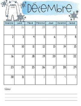Planificateur / Agenda tropical