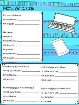 Planificateur de l'enseignant remplaçant primaire
