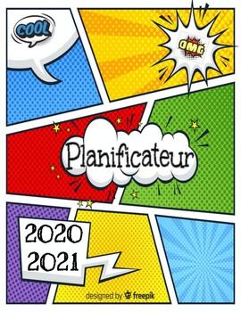 Cahier de planification / Planificateur / Agenda 20-21 (avec dates)