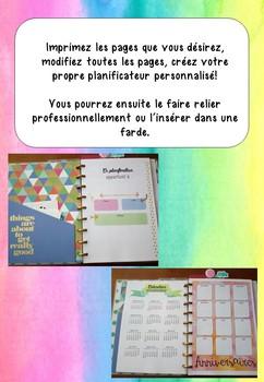 Planificateur pour enseignant 2018-2019 - Aquarelle