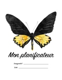 Planificateur pour enseignant papillons / French Teacher Planner Butterflies