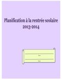 Planificateur pour l'année scolaire 2013-2014