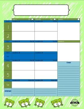Planificateur vierge *vert