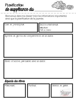 Planification // Planification de suppléance