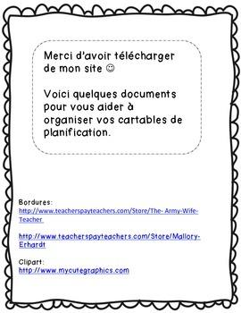 Planification-Trousse de départ - Révisé 2014