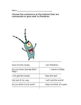Plankton's Commands