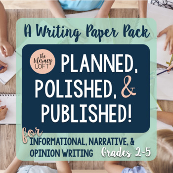 Planned, Polished, & Published!- Writing Paper Pack