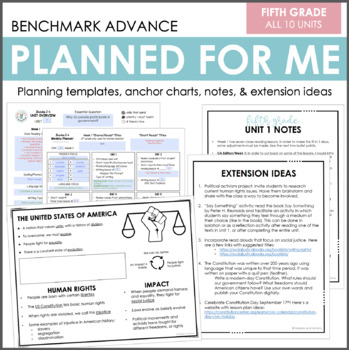 Planned for Me: Fifth Grade (Benchmark Advance)