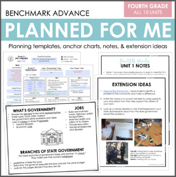 Planned for Me: Fourth Grade (Benchmark Advance)