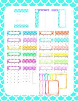 Printable Mermaid Planner