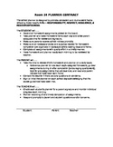 Planner / Assignment Book Contract