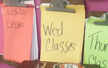 Planner Page: Attendance, Seating Chart For Visual Arts