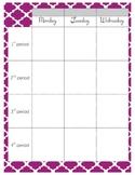 Planner Book Pages - Quatrefoil