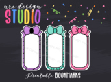 Planner Bookmark Printable, Bows