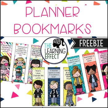 Planner Printable - Bookmarks | FREE