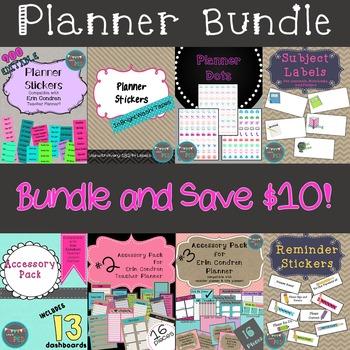 Planner Bundle ** Compatable with Erin Condren Teacher Planner