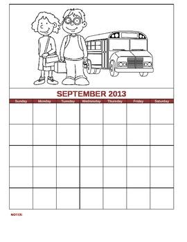 Planner Calendar Template