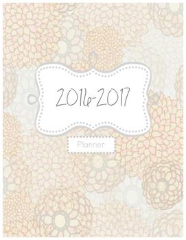 Teacher Binder Cover~ Mint Floral 2016-2017