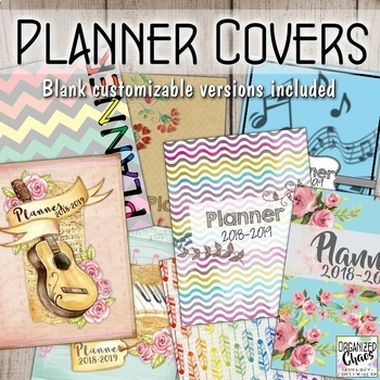 Binder and Planner Covers and Spine Labels