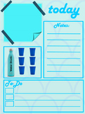 Planner- Dalily and Weekly Blue