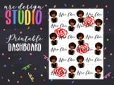 Planner Dashboard Printable, Afro Chic Planner Girl No.01