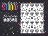 Planner Dashboard Printable, Bow No.05