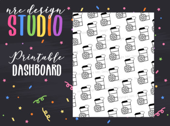 Planner Dashboard Printable, Coffee No.04
