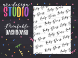 Planner Dashboard Printable, Lady Boss No.03