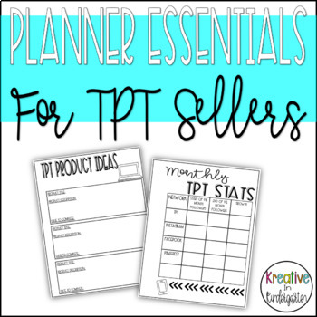 Planner Essentials for TPT Sellers
