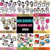 Planner Girl Chore Clipart Bundle Vol. 6 (working, coffee break, period time)