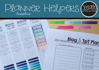Planner Helpers {Freebie}