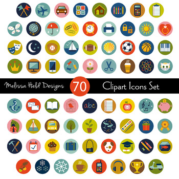 Planner Icon Set Clipart