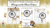Planner Insert:Teacher Schedule *Beauty and the Beast Insp