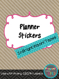 Planner Labels in Bright Washi Tape