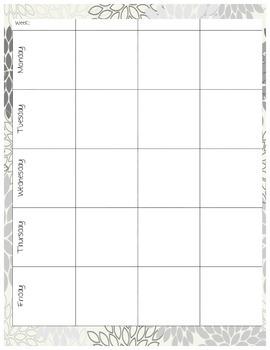 Teacher Binder Lesson Planning Pages~ Mums