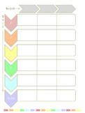 Planner Pages - Pastel Rainbow