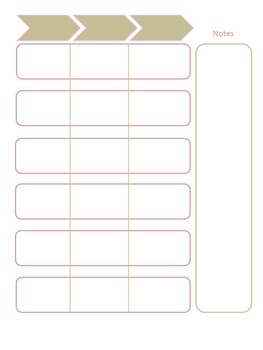 Planner Pages - Pink and Tan