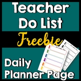 Planner Pages: Teacher To-Do List by period-- Color & Black