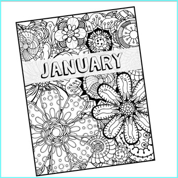 Planner Cover and Coloring Page