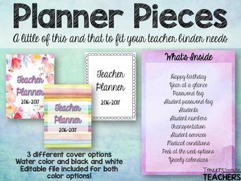 Planner Pieces 2016-2017