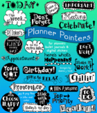 Planner Pointers - Calendar clip art for digital or printed planners
