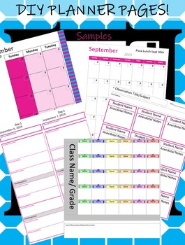 Planner Powerpoint Template Easily Customize Your Planner Diy Vertical